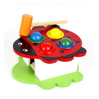 2013 Baby beat toy animal Puzzle wood toy high quality free shipping