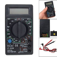 Free Shipping AC/DC Ammeter Voltmeter Ohm Electrical Tester Meter Professional Digital Multimeter DT830B dropshipping