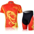 free shipping!new 2012 Red And Yellow Dragon Sport Cycling Clothing Suit + bike Short/cycling jerseys + COOL