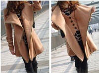 2012 Women's fashion double breasted bow silm wool overcoat lady fashion warm wind coat/winter coats/outerwear 56912