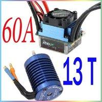 1 set of  INIX 60A 13T Brushless burstenlosen ESC Motor COMBO sensorless for HSP RC CAR 13T motor + 60A ESC  Combo