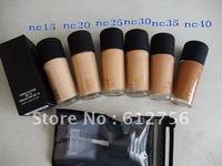 makeup store*80pcs 2011 NEW STUDIO FIX FLUID SPF 15 FOUNDATION FOND DE TEINT FPS 15 30 ML free gift