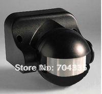NEW180 Degree White Security infrared Motion Sensor Switch Pir Detector (Black )