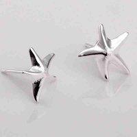 Min.order is $15(mix)   silver star earring for women 2014.fashion jewelry wedding  Stud earrings
