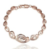 Min.order is $10(mix) 18KGP 18K Gold Plated Rhinestone Bracelet Fashion Bracelet Jewelry Wholesale