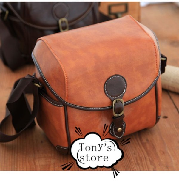 Leather Photography Bag Retro Leather Camera Bag