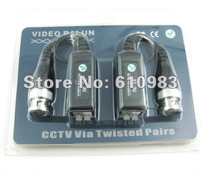 Free shipping (5pairs/lot) Camera CCTV BNC DVR UTP Network CAT5 CCTV UTP Video Balun(China (Mainland))