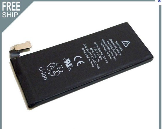 1420mAh Replacement Battery for iPhone4 4G,MOQ:100pcs/lot,DHL Free Shipping,A0112(China (Mainland))