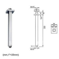 "12"" Long Polished Chrome Brass Rainshower Ceiling Mounted Shower Arm CM0650"