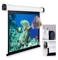 Fedex Free shipping! 100inch Grey Matte Manual Projection Screen, Manual screen for home,shcool,office,etc