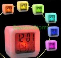 Retail Glowing Change Digital Multifunction Music LED Colour Alarm Clock (SX-160)