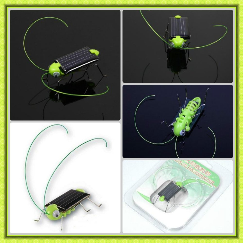 free shipping!!! Solar Power Robot Insect Bug Locust Grasshopper Toy kid 20pcs/lot(China (Mainland))