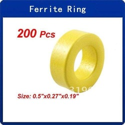 Wholesale 200 Pcs T50-26 Iron Power Core Toroidal Ferrite Rings(China (Mainland))