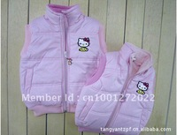 Wholesale Discount 5 pieces/lot 2012 new thick cotton vest for Spring and Autumn(for 1-6 years) free shipping