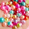 4MM ABS Pearl Mixed Colors ( 21colors) 140g about 10,000Pcs Colorful Fake Pearl Cabochons Mix (Round Half Assorted Colors)