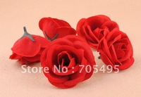 Free Shipping Artificial Wedding 5cm Velvet Rose Flower Head