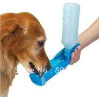 wholesale Portable PP plastic Pet water feeding bottles, 400ml dog water drinking bottle, great for outdoor use/ dogs and cats