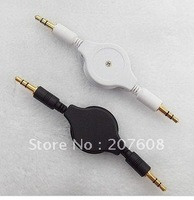 New Retractable 3.5mm Male to Male Jack Audio Aux Cable Mp3 PC Adapter Free shipping 178pcs/lot