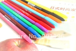 Free shipping Water-based pen,Cute candy fluorescence color sign pen 144pcs/lot(China (Mainland))