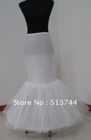 in stockFree shipping:  wholesale  Mermaid/Trumpet  bridal petticoat  Underskirt  with lace edge