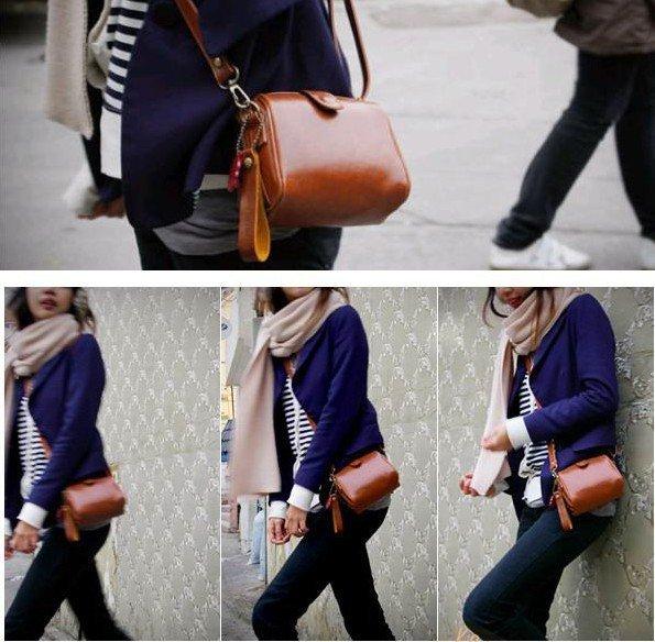 Sunflower's Store CPAM Free+Small PU leather Long belt shoulder Hangbag, Brown& Black women's Shoulder's Bag girl love bag(China (Mainland))