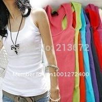 free shipping-quality guarantee Mix Colour ship accept ,100% cotton long T-shirt ,hot vest, 12 pcs/lot