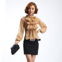 2012 fashion OL career dress Chiffon Lace vintage dress knee-length dress