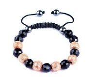 $10 off per $100 order 10MM  Weaving Alloy Alloy Beads Shamballa Withe Color Disco Ball Bracelet Hiphop Bangle Free Shippng