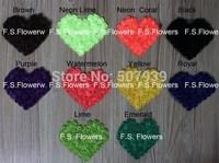 Free aPacket/CPAP 3D chiffon rosettes heart,hair accessories,valentine flower,13x10cm,30pcs/lot,19 stock colors