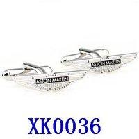 Free shipping!  Aston Martin Car Sign Shape Cufflinks     XK0036