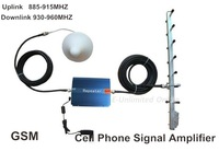 10m Cable+YAGI antenna  GSM Cell Mobile Phone Signal Repeater Booster,Amplifier ,Free Shipping By FedEx