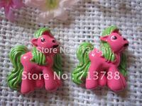 flat back resin Pony for phone decoration 12pcs/lot