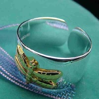 Min.order is $15(mix) R011 Dragonfly ! High Quality,  silver ring. fashion jewellry 18K gold golden rings