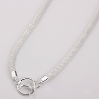 Min.order is $15(mix) N087 ,Free shipping silver chain necklace.fashion jewelry necklace
