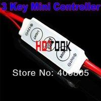 12V Mini 3 Keys Single Color LED Controller Brightness Control light Dimmer used for led 3528 5050 strip x 10PCS-- free shipping