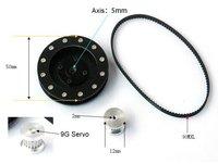 DIY Aerial PTZ Pan/Tilt/Zoom Gear Rubber Belt Synchronous Wheelset