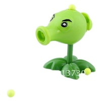 Free Shipping Cute Plants vs. Zombies Peashooter Toy with 10-BB Bullets (Pair)-53120