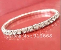 Free Shipping 2013 Popular Crystal Bridal Wedding Bracelet Chain cup chain bracelet