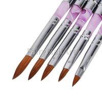 100 set/lot Original Sable Acrylic Nail Art Brush Detachable Nail Brushes Set Size:No2.No4.No6.No8.No.10 #1158