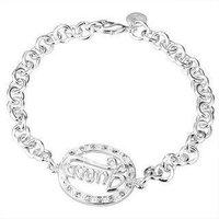 Min.order is $15(mix) H224 Freeshipping fashion bracelet Silver Jewelry jewellry 13 Charm Tag chain Bracelets Brand