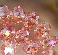 Free Shipping>>>>4--6mm 200PCS Pink AB  Crystal Loose Bead
