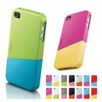 EMS/DHL Freeshipping 50Sets/Lot(100pcs) Korea EGO Slide Case For iPhone 4S 4, Multiple Colors For iPhone 4 4s Case Two Separate