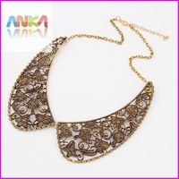 free shipping Vintage Delicate Hollow Metal False Collar Necklace  #91564