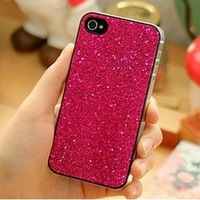 Freeshipping Hard Bling Case For iPhone 4 4G , Glitter Bling Shining Hard Back Case For iPhone 4G 4S