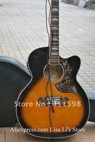 Wholesales SJ200 singlecut Vintage Sunburst Acoustic electric Guitar with 5 Brand EQ Microphone Pickups
