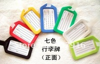 Coloured Luggage Tag Address Holder Secure ID Label Travel Suitcase Plastic Name Identifier Cards Key rings