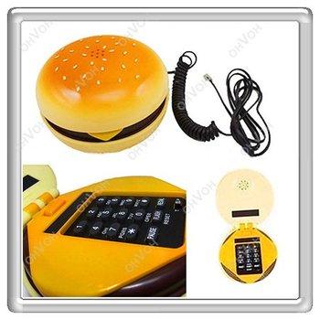 K5Y Geek Hamburger Cheeseburger Burger Telephone Home Desktop Corded Juno Phone