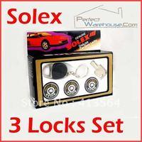 Universal car 3 door lock Extremely High Quality Solex Round Key