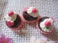 flat back resin cake  for phone decoration 30pcs/lot