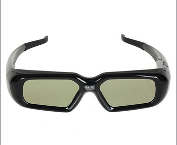free shipping 4pc/lot hot item active shutter 3d glasses for dlp link projector optoma ML300 EX784
